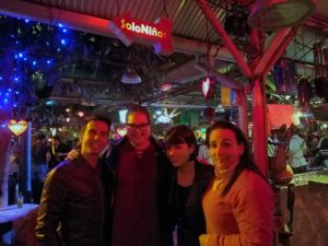 Michelle, Masha and Michelle's cousins at Andres Carne de Res in Chia, Colombia