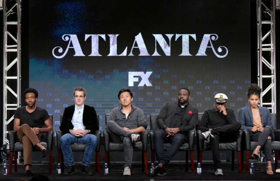"""Atlanta"" co-executive producer and director Hiro Murai sits on a panel with the lead actors and creators of FX's ""Atlanta"""