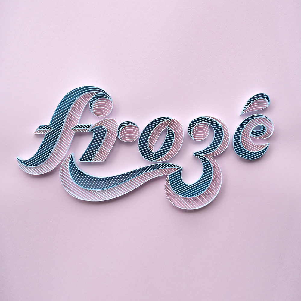 "Alia Bright's ""Frozé,"" made with paper. View 1"